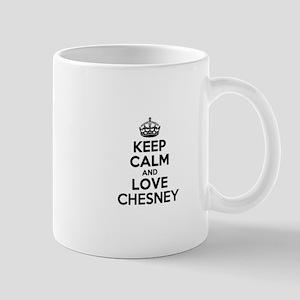 Keep Calm and Love CHESNEY Mugs