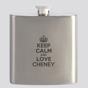 Keep Calm and Love CHENEY Flask