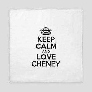 Keep Calm and Love CHENEY Queen Duvet