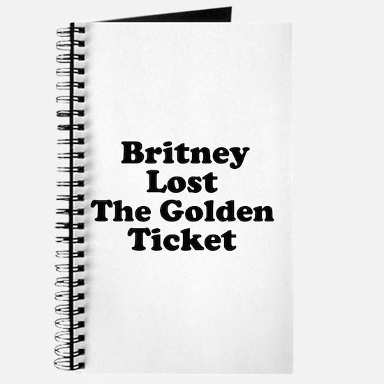 Britney Lost the Golden Ticke Journal