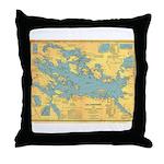 Lake Winnipissiogee 1911 Throw Pillow