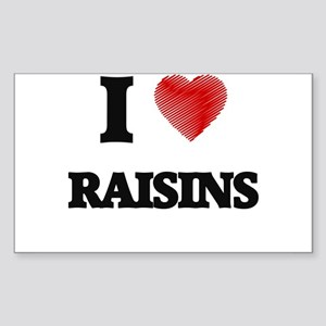 I Love Raisins Sticker