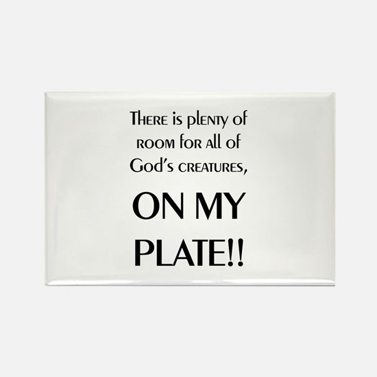 On My Plate Rectangle Magnet