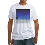 71.learnin' to fly/bluedge...? Fitted T-Shirt
