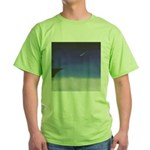 71.learnin' to fly/bluedge...? Green T-Shirt