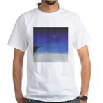 71.learnin' to fly/bluedge...? White T-Shirt