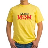 Sheltie Mens Classic Yellow T-Shirts