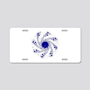 Blue Pin Wheel Aluminum License Plate