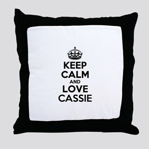 Keep Calm and Love CASSIE Throw Pillow