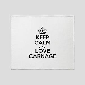Keep Calm and Love CARNAGE Throw Blanket