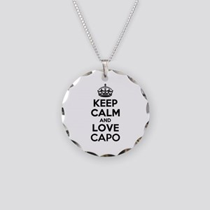 Keep Calm and Love CAPO Necklace Circle Charm