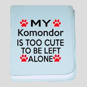 Komondor Is Too Cute baby blanket