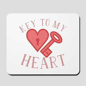 Key To Heart Mousepad