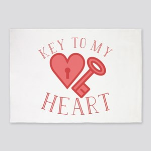 Key To Heart 5'x7'Area Rug