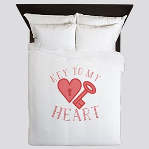 Key To Heart Queen Duvet