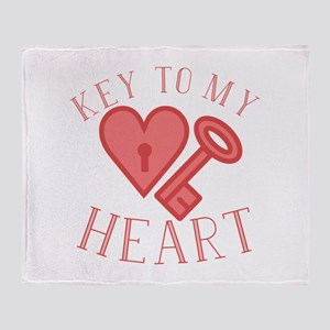 Key To Heart Throw Blanket