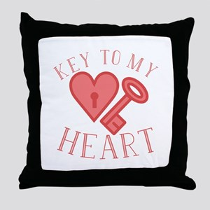 Key To Heart Throw Pillow