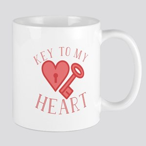 Key To Heart Mugs