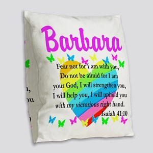 JOYOUS ISAIAH 41:10 Burlap Throw Pillow