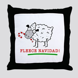 Fleece Navidad! Throw Pillow