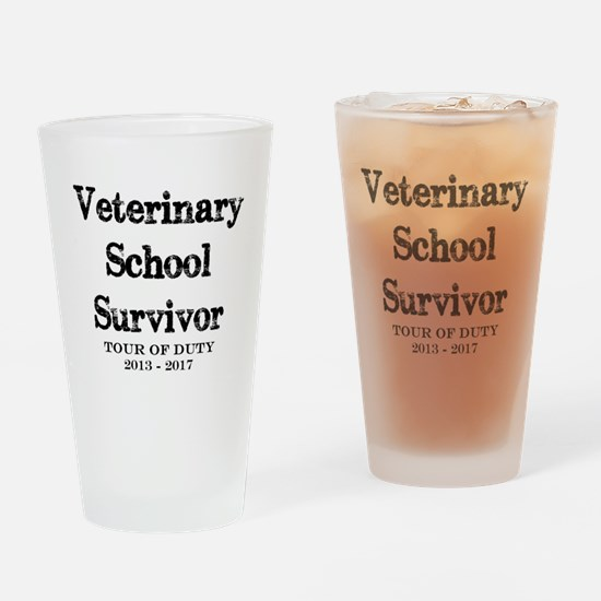 Veterinary School Survivor Drinking Glass