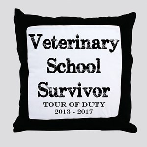 Veterinary School Survivor Throw Pillow