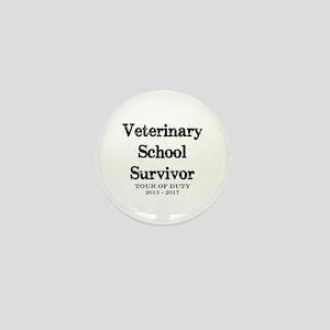 Veterinary School Survivor Mini Button