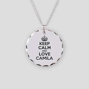 Keep Calm and Love CAMILA Necklace Circle Charm