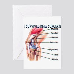Knee Surgery Gift 6 Greeting Card