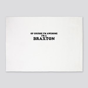 Of course I'm Awesome, Im BRAXTON 5'x7'Area Rug