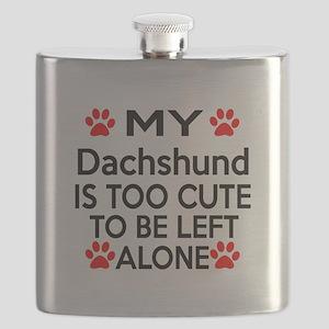 Dachshund Is Too Cute Flask
