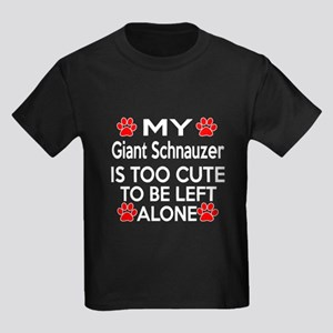 Giant Schnauzer Is Too Cute Kids Dark T-Shirt