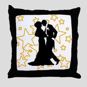 Ballroom Dance Couple Throw Pillow
