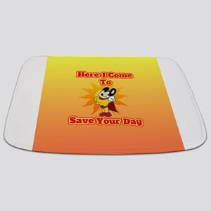 Here I Come To Save Your Day Mighty Mouse Bathmat