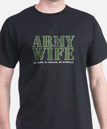 Army Wife Camo Black T-Shirt