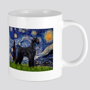 Starry Night Schnauzer Mugs
