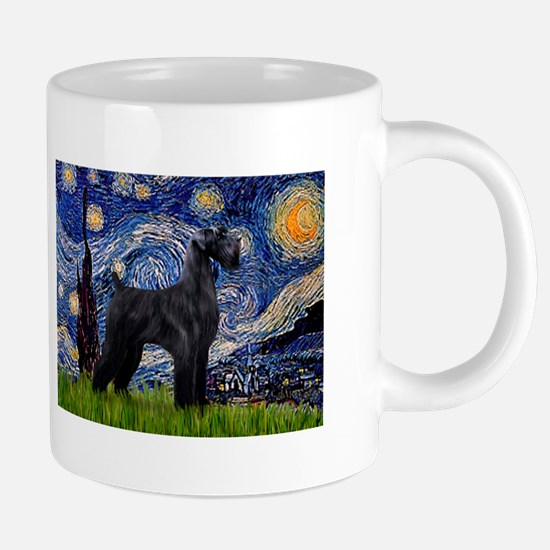 Starry Night Schnauzer Mugs