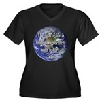 Living With Nature Quote Women's Plus Size V-Neck