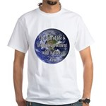 Living With Nature Quote White T-Shirt