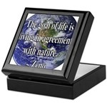 Living With Nature Quote Keepsake Box