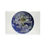 Living With Nature Quote Rectangle Magnet (10 pack