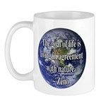 Living With Nature Quote Mug