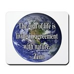 Living With Nature Quote Mousepad