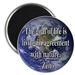 Living With Nature Quote Magnet