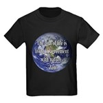 Living With Nature Quote Kids Dark T-Shirt