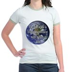 Living With Nature Quote Jr. Ringer T-Shirt