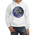Living With Nature Quote Hooded Sweatshirt