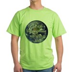 Living With Nature Quote Green T-Shirt