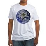 Living With Nature Quote Fitted T-Shirt