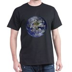 Living With Nature Quote Dark T-Shirt